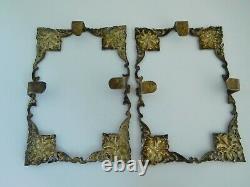 Paire De Qualité De Vintage / Antique Solid Silver Middle Eastern / Persian Frames