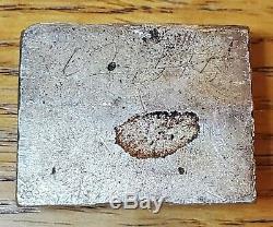 Paire De Rare P Monnaie 1 Troy Oz Poured Des Barres D'argent Encore Attachés Vintage Old
