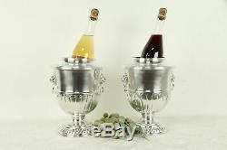 Paire De Seaux À Champagne Ou À Vin Panachés Anglais # 31309