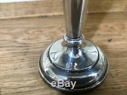 Paire De Sterling Silver Cannelée Bud Vases Vintage 1971 Jg Ltd B'ham 190gm