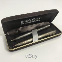 Paire De Stylos À Bille Vintage Sheaffer En Argent Sterling, Corps Australien
