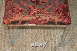 Paire De Tabourets Ottomans Design Vintage Spancraft Design En Chrome Bancs