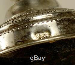 Paire De Vintage Argent 925 Bougeoirs Pondérées Bâton 582 Gr