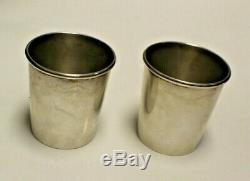 Paire De Vintage En Argent Sterling Mint Julep Coupes Newport 1657 121219lrp02 / LX