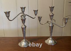 Paire De Vintage International Sterling Silver Candelabra