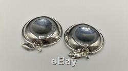 Paire De Vintage Poinçonnés Solide Forme En Argent Sterling Pomme Pin Plats 25,7 G