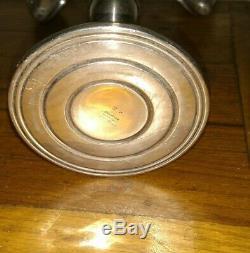 Paire De Vintage Preisner Ps. Co Argent Sterling Pondéré 5 Lumières Candélabre