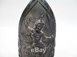 Paire De Vintage Siam Argent Sterling Bracelet Brassard 218g