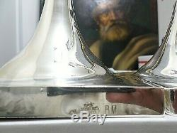 Paire Grand Vintage En Argent Sterling Bougeoirs, Sabbath Judaica, Taille 13