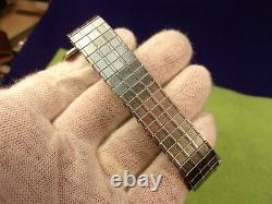 Paire Massive D'argent Sterling Exceptionnel Vtg & Montres Turquoise Cuffs & Band