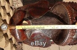 Paire O Dice Selle Western Western À Lacets Style Arabe 15 1/2
