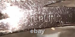 Paire Old Antique Sterling Silver Overlay Flacon De Parfum De Bouteille De Décanter Jar