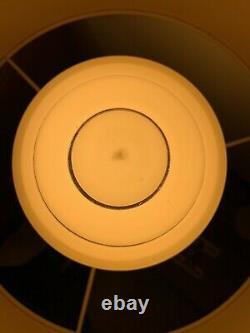 Paire Rare De Nuances De Lampe Art Déco, Bordure Argentée, Rétro Vintage, Immaculée
