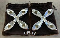 Paire Vintage Argent Sterling Bougeoir Porte Makers 23419 & Co Tiffany