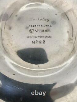 Paire Vintage Berkeley International Sterling Silver Candélabra 3-bougeole
