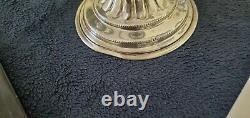 Paire Vintage D'argent Sur Candélabres Trois Feux En Cuivre Nouveau / Support De Bougie