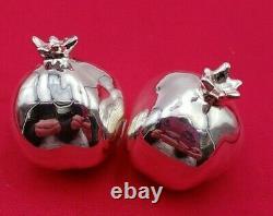 Paire Vintage De Figurines De Grenade Sterling Silver 925 (#314)