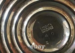 Paire Vintage De Porte-chandelles Pondérés Empire Sterling Silver 40