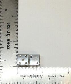 Paire Vintage De Solides 925 Sterling Silver Taxco 2 Cubes De Dés