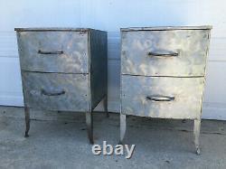 Paire Vintage De Tables D'extrémité De Style Anthropolgie Faites À La Main