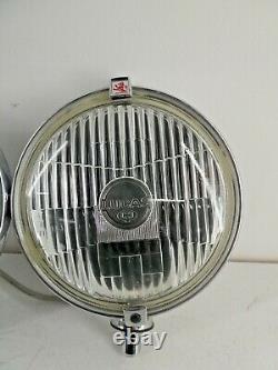 Paire Vintage De Voiture Classique Lucas Ft/lr 10/11 Silver Sabre Spot Light Lamps A12