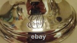 Paire Vintage Elegant En Verre Gravé - Vases Sterling Silver Epergne Percés
