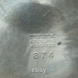 Paire Vintage Fisher Sterling Silver 4.5 Chandeliers Pondérés. #874