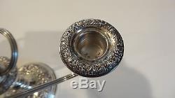 Paire Vintage Kirk Repousse Argent Sterling 8 Candelabre 3 Lits, 1815 Grammes