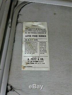Paire Vintage Milieu Du Siècle A. Fritz & Co Métal Chaises Pliantes Argent Avec Noir Velv