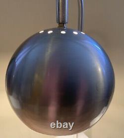 Paire Vintage Milieu Du Siècle Sonneman Kovacs Style Chrome Globe Eye Ball Lampes De Table