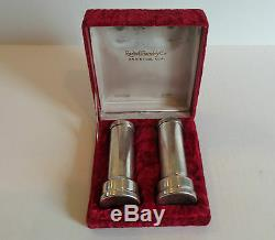 Paire Vintage Rudisill Foundry Co. En Argent Sterling Cased Salt & Pepper Shakers
