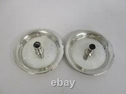 Paire Vintage Signé Cartier 925-1000 Sterling Silver Thin Taper Candle Holders
