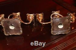 Paire Vintage Silverplate Candélabres