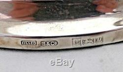Paire Vintage Solide À Base Ronde En Argent Sterling Bougeoirs 20 CM