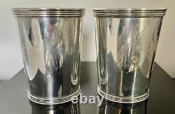 Paire Vintage Sterling Silver Mint Julep Cup International Sterling