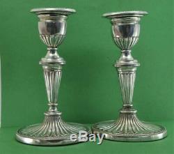 Paire Vintage Svend Toxvaerd Danoise 925 Bougeoirs 17 CM X 10,5 CM