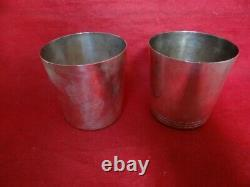 Paire Vintage Tiffany & Co Sterling Silver Mint Julep Cups # 22875 No Mono