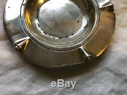 Paire Vintage William Spratling Taxco Mexique Sterling Petites Plaques Ou Cendriers