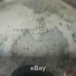 Paire Vintage Wm. Candélabres / Chandeliers Rogers À 3 Lumières En Argent Massif