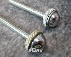 Paire Vtg Moe Bros Haut Style Art Déco Chrome Cylindre Sconces C. 1938 Restaurer