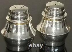 Paire Vtg Tiffany & Co Argent Sterling 925 Sel Et Poivre Shakers Made Germany