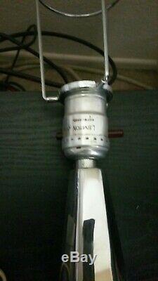 Paires Vintage Machine Age 30s Art Deco Chrome Lampes / Abat-jour Industriel