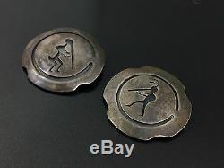 Pendentif Broche Broche De Kokopelli En Argent Sterling Du Sud-ouest Millésime (2)