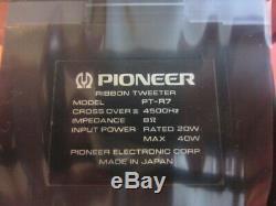 Pioneer Pt-r7 Super Tweeter À Ruban Haut-parleur Pair Japan Used Exclusif Peu Vintage