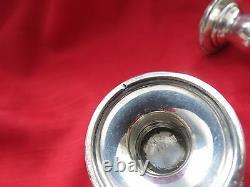 Prélude Vtg Par International Sterling Silver Candlestick Paire 3 1/2