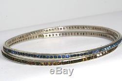 Rare Paire De Bracelets Éternité En Argent Sterling D'époque Art Déco
