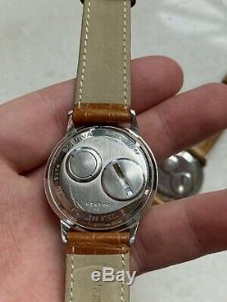 Rare Paire Vintage 1960 Bulova Accutron Double Timbrée Pour Les Employés