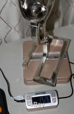 Rare Paire Vintage Candelabra Antonio Pineda Taxco Mexique 930 Sterling 15,5 Haut
