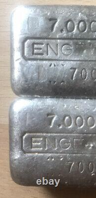 Rare Séquentiel Vintage Engelhard 7 Oz Collector Silver Bars Only Paire Sur Ebay