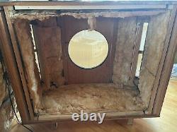 Rare Vintage Plywood Empty Speaker Cabinets Pair Utilisé Avec Tannoy 15'' Silver